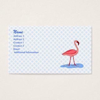 De Flamingo van de flora Visitekaartjes