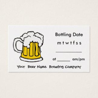 De fles Appointment Brewing Company, Bar, u-brouwt Visitekaartjes