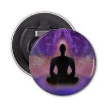 De Flesopener van de Yoga van de meditatie Button Flessenopener