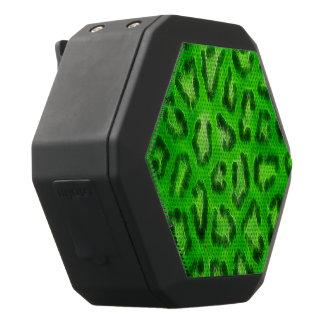 De fluorescente Groene Abstracte Textuur van de Zwarte Bluetooth Speaker