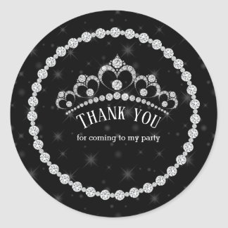 De fonkelende Tiara's van de Diamant - kies uw Ronde Sticker