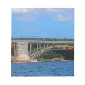 De foto Boston Amerika de V.S. van de brug Notitieblok