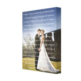De Foto & de Geloften van het Huwelijk van de Canvas Afdrukken