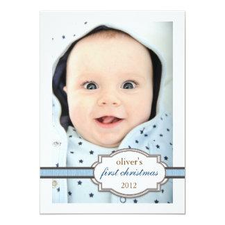 De Foto van Eerste Kerstmis van de baby met het Kaart