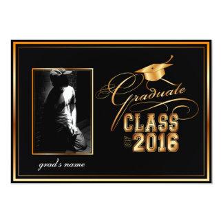 De foto van PixDezines/diy kleuren 2016 afstuderen 12,7x17,8 Uitnodiging Kaart