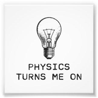 De fysica zet me aan foto afdruk