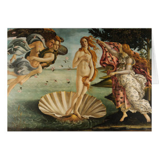 De geboorte van Venus - Sandro Botticelli Kaart