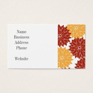 De gebrande Oranje en Oranje Flora van de Bloesems Visitekaartjes