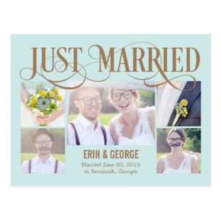 De Gehuwde enkel Aankondiging van het Huwelijk van Briefkaart