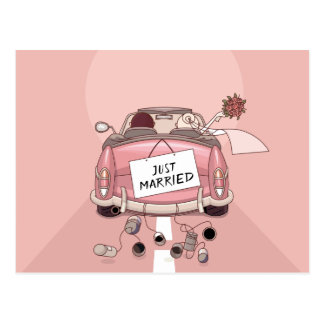 De Gehuwde enkel Roze Liefde van de Aankondiging Briefkaart