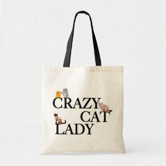 De gekke Dame van de Kat Draagtas