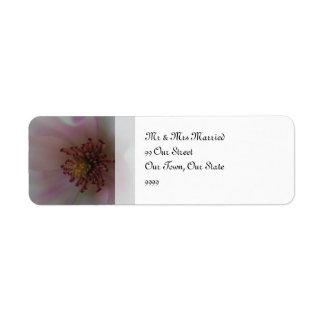 De gekleurde Bloem van het Huwelijk van het Hart Etiket