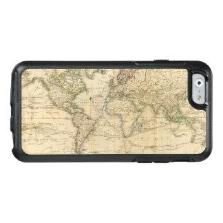 De Gekleurde kaart van de wereld Hand OtterBox iPhone 6/6s Hoesje