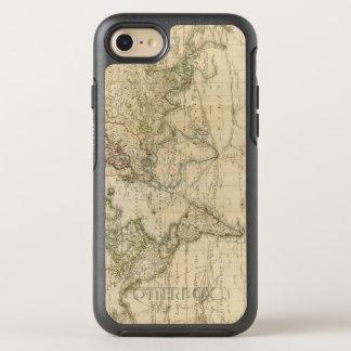 De Gekleurde kaart van de wereld Hand OtterBox Symmetry iPhone 8/7 Hoesje