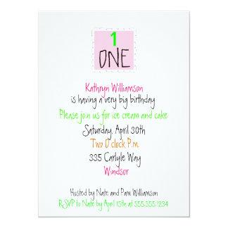De gelukkige Eerste Uitnodiging van de Verjaardag