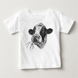 De gelukkige Melkkoe van het Friese rund Baby T Shirts