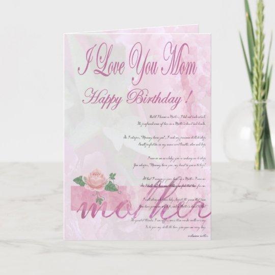 De Gelukkige Moeder Van De Verjaardag Van Dochter Kaart Zazzle Be
