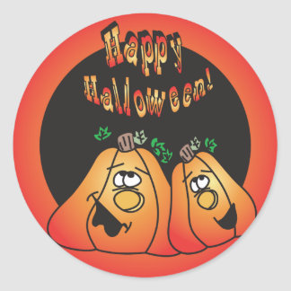 De gelukkige Pompoenen van Halloween Ronde Stickers