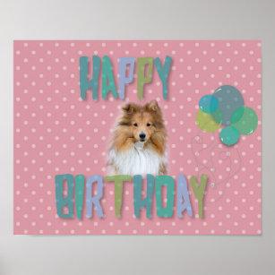 Gelukkige Verjaardag Van De Hond Posters En Afdrukken Zazzle Be