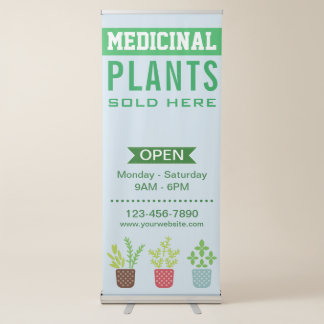 De geneeskrachtige Opslag van het Plant Roll-up Banner