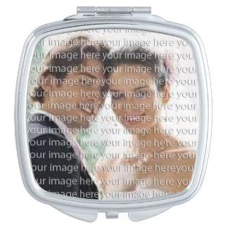 De gepersonaliseerde Compacte Spiegel van de Foto Make-up Spiegeltjes