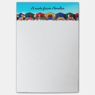De gepersonaliseerde Kleurrijke Rij van de Hutten Post-it® Notes
