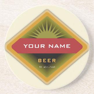 De gepersonaliseerde onderzetters van het Bier