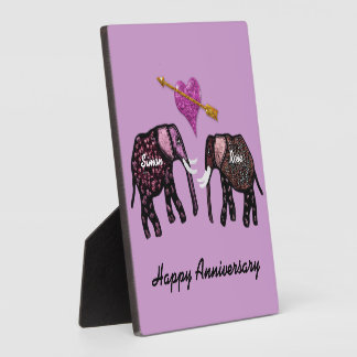 De Gepersonaliseerde Plaque van olifanten Jubileum Fotoplaat
