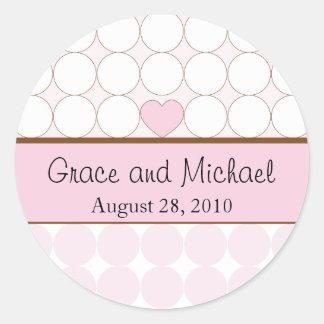 De Gepersonaliseerde Sticker van het huwelijk -