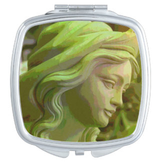 De gesneden Compacte Spiegel van de Make-up van Makeup Spiegeltjes