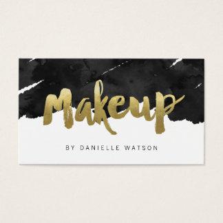 De gespannen Gouden Kunstenaar van de Make-up van Visitekaartjes