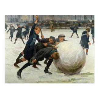De Giantest Sneeuwbal, 1903 Briefkaart