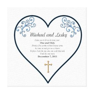 De Gift van het Huwelijk Michael en Lesley Canvas Afdrukken