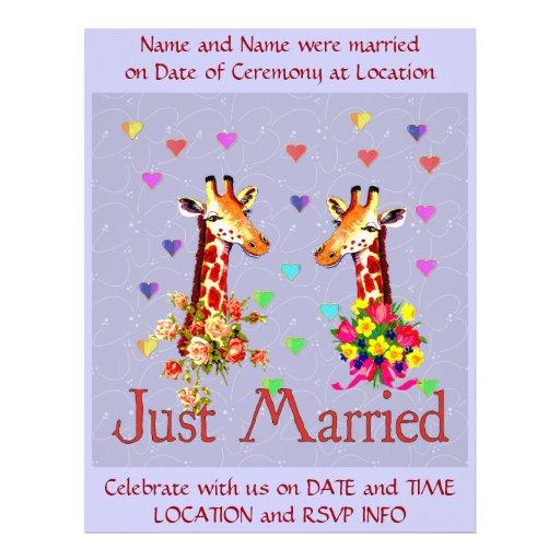 De Giraffen van het huwelijk Folder