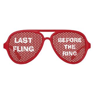 De Glazen van het Oog van de Partij van de rode Aviator Zonnebril