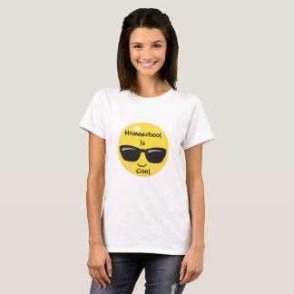 De glimlach Emoji met Sunshades Homeschool is Koel T Shirt