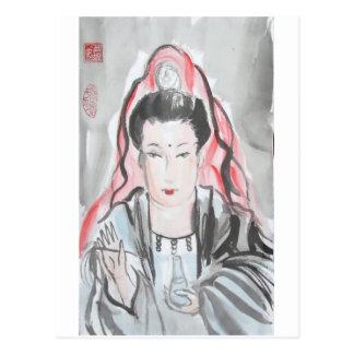 De Godin van Yin van Quan van Medeleven Briefkaart