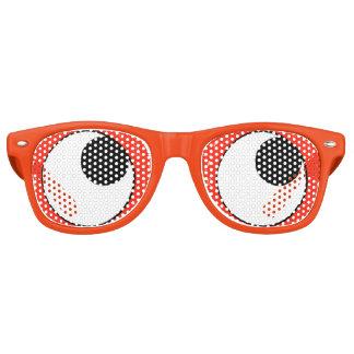 De googly-Ogen van de pret Oranje (omhoog) Partij Retro Zonnebril