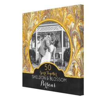 de Gouden 50 Jaar van de 50ste van het Huwelijk Canvas Afdrukken