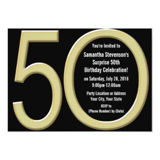 De gouden 50ste Uitnodiging van de Verjaardag/van