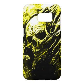De Gouden Dood van de Schedel van Skully Samsung Galaxy S7 Hoesje