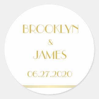 De gouden en Witte Grote Stickers van het Huwelijk