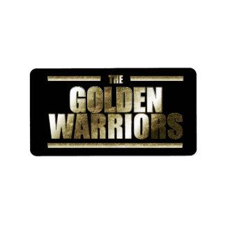 De gouden Etiketten van Strijders Addressticker