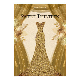 de gouden gordijnen kleden zoete 13de verjaardag kaart