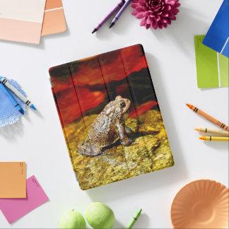 De gouden Pad met Rode Lelie vult de Dekking van iPad Cover
