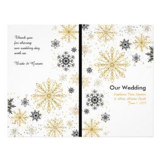 De gouden Programma's van het Huwelijk van de Flyer 21,6 X 27,9 Cm