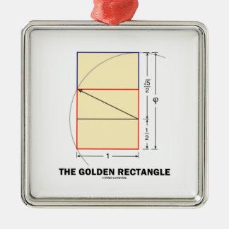De gouden Rechthoek (de Verhouding van de Wiskunde Ornament