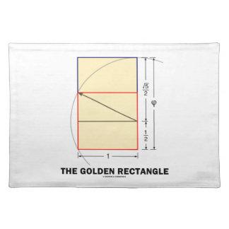 De gouden Rechthoek (de Verhouding van de Wiskunde Placemat