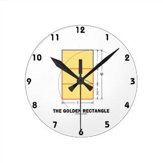 De gouden Rechthoek (de Verhouding van de Wiskunde Ronde Klok