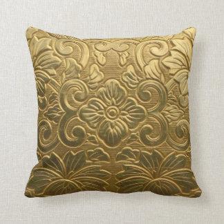 De gouden Textuur werpt Hoofdkussen Sierkussen